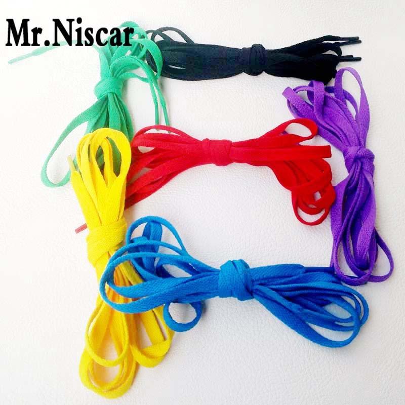 Mr.Niscar 5 Pair Green Shoelaces Kids Adult Flat Shoelace Shoe Lace Colors Black Flat Laces Strings for Sneaker Cordones Zapatos<br><br>Aliexpress