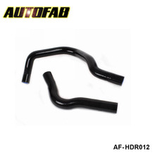 AUTOFAB -Racing Turbo Intercooler Radiator pipping silicone hose Kit For Honda Civic EG4 B16A (2pcs) AF-HDR012