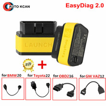100% Original Launch X431 EasyDiag 2.0 code scanner Launch Easy Diag 2.0 For Android&IOS 2 in 1 obd2 16pin more cable to choose(China)