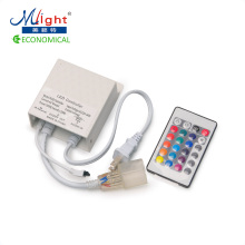 220V 24-Key IR Remote for SMD 5050 RGB LED Neon Light Strip Color Changeable High Voltage Lighting Ribbon(China)