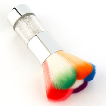 Colorful Nail Dust Brushes Acrylic UV Nail Gel Powder Nail Art Decorations Dust Remover Brush Cleaner Makeup Foundation Tool Kit(China)