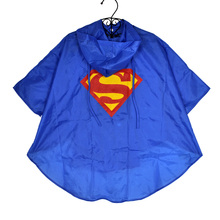 7 Types Fashionable Kids Rain Coat Superman Batman Spiderman Pattern Children Raincoat Rainwear Waterproof Kids Clothes