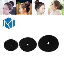 M MISM Fashion Women Round Sponge Hair Bun Ring Dount Shaper Hair Styler Maker Miden Girls Hair Curler Elastic Hair Disk Device