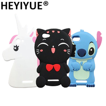 Cartoon Lenny 3 Case New 3D Unicorn Pony Cat Stitch Silicone Phone Cases Cover For Wiko Lenny 2(China)