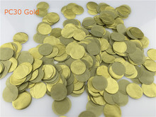 30g/bag 2.5cm=1inch Gold Circle Shape Tissue Paper Balloon Confetti Mariage Wedding Party Table Decorations