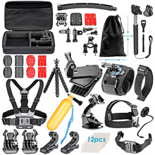 neewer action camera accessory kit for all brand sports camera:Sjcam DBPOWER AKASO APEMAN WiMiUS QUMOX Lightdow Campark(China)