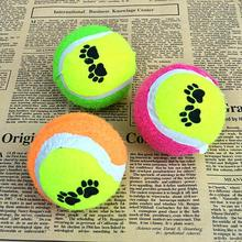 New Dog Cat Tennis Balls Run Play Chew Toys Cute Pets Suppliers Dog Pet Toys(China)