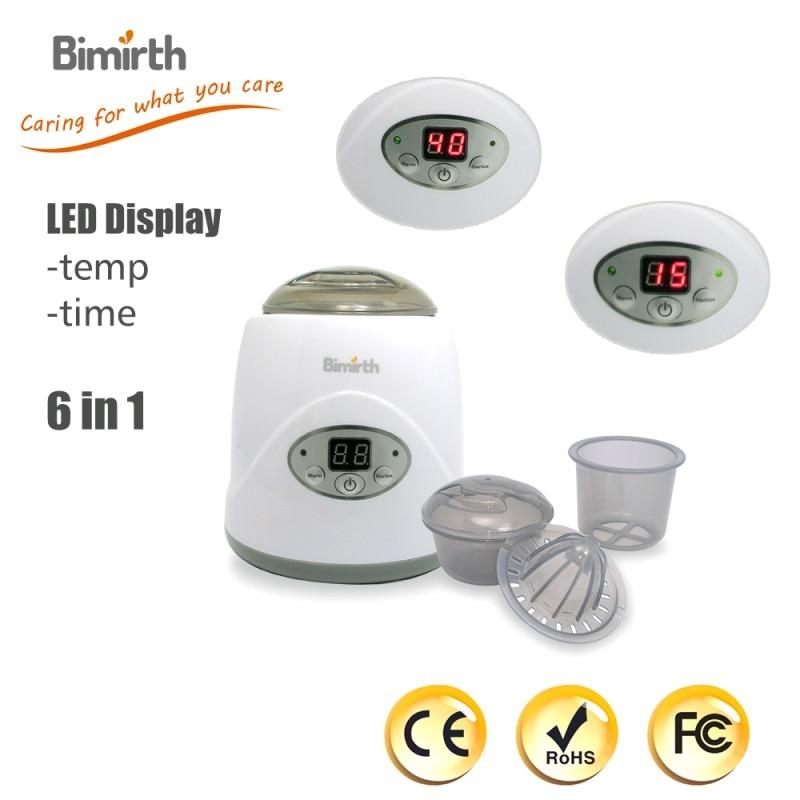 BIMIRTH Mini LED Display Baby Bottle Warmer for Breast-milk Milk Nipple Jar Water Food Juice Egg etc. EU/US/UK Plug<br>