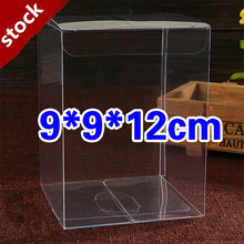 9*9*12cm 20Pcs Transparent PVC Boxes for Packing Candy/ Clear Box for Display Goods /High Quality Eco-friendly