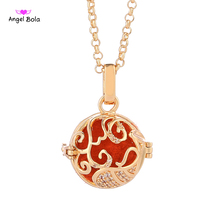 Angel Bola Aquarius Perfume Necklace Pendant For Women Sweater Chain Aromatherapy Oil Pendant Cage Jewelry L141