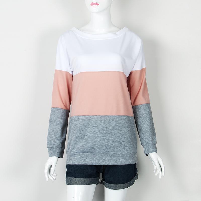 Sweatshirt, Women's Sweatshirt Patchwork Pullover 10
