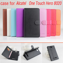 9 Color Litchi Texture High Quality Original Alcatel One Touch Hero 8020 Leather Case Flip Cover for One Touch Hero 8020 Case