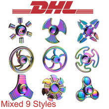 Buy 100Pcs/Lot Mixed Adult Anti Stress Relief Toys Wheel Hand Fidget Finger Spinner Rainbow Aluminium Metal Bearing Autism ADHD EDC for $263.70 in AliExpress store
