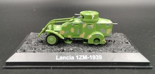 rare 1:72 World War II Soviet Army 1ZM wheeled armored vehicle model Lancia Alloy Collection Model Holiday gifts(China)