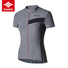 Santic Pro Tour de France Cycling Jersey Women Summer Short Sleeve MTB Downhill DH Mountain Road Bike Bicycle - Sireck Outdoor CO., LTD. store