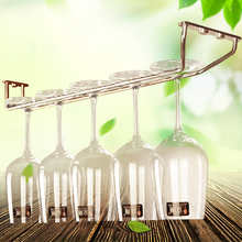 Stainless Steel Champagne Stemware Rack Chrome Plated Wine Glass Cup Holder Kitchen Wall Mount Wine Rack Bar Hanger with Screws