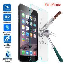 2.5D 9H Tempered Glass For iPhone 5S 6S 4S 6 7 5 4  Premium Screen Protector Film Protecive Super Slim Cover