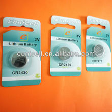 Super quality 1500cards x 1pc blister card CR3032 3V lithium button cell battery  wholesale free shipping cost