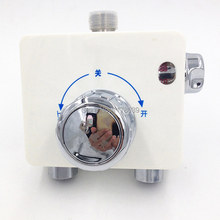 Surface mounted Wall Square shape Plastic Solar thermostatic valve,exposed shower mixer tap,Free Shipping J15632