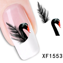 2 Sheet manufacturers accusing XF water nail sticker black swan funds abroad smooth atmosphere XF1553