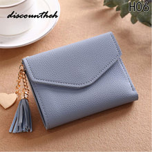 Women Female Tassel Pendant Short Money Wallets PU Leather Lady Zipper Coin Purses Fashion Card Holders Mini Wallets(China)