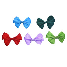 30pcs Mixed Baby Satin Ribbon Bowknot Hair Clips Applique DIY Craft Wedding Bow Tie Decoration 5.5x4.2cm