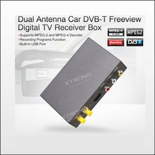 Dual Antenna Car DVB-T Freeview Digital TV Receiver Box Support MPEG-4 And MPEG-2 built-in HDMI port(China)