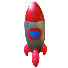 New Inflatable Toys Inflate Red Rocket Model Toys Children Birthday Party Decoration Toys Astronaut Space Spaceship 103*28 CM(China)