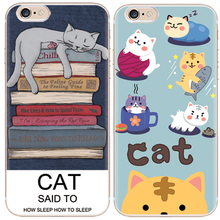 3D Coque Capa Cartooe Design For Luckly Cat Phone Case For iPhone 6 7Plus Soft TPU Phone Bag Cases Cover For iPhone 6S 7 Plus