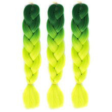1* Hot Colorful Chemical Fiber Big Braids Wigs African Pigtail Hair Halloween Christmas Party Bar Dance Decorations Funny Games(China)