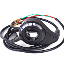 3 Wires Black Thumb Throttle Speed Control Wire Assembly 7/8'' Chinese-made Electric Bike Scooter E-Bike - hermeshine Store store