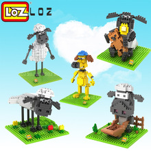 LOZ Blocks Diamond Building Blocks toys Action Figure the Sheep 3D Bricks Quiz Gift Toy Particles Assembled Blocks For kids(China)