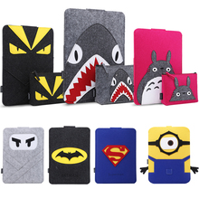 For Macbook 11 12 13 15'' liner package laptop Sleeve bag Cute Fashion Woof Felt Protective Case Sleeve Bag tablet PC case cover(China)