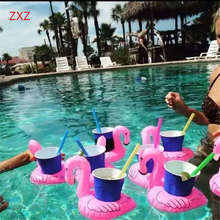 Red Flamingo Floating Inflatable Drink Holder Swimming Cute Funny Toys  Drinks Stand Pool Tool Bathing Beach Party Kids Bath Toy