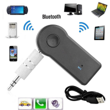 1pc Wireless Car Bluetooth Receiver Adapter 3.5MM AUX Audio Stereo Music Hands free Home Car Bluetooth Audio Adapter