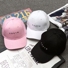 Fashion Cap Women Men Summer Spring Cotton Caps Women Letter Solid Adult baseball Cap Black White Hat Snapback Women Cap 2017