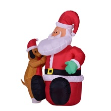 2017 New Fashion Hot Sale 1.2m Inflatable Santa Claus Doll Christmas Snowman Doll Christmas Ornament Party Decoration 19*9*24cm
