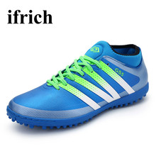 Mens Football Trainers Shock Absorption Men Shoes For Training Anti-Slip Football Kids Shoes Breathable Mens Soccer Boots