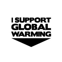 13.5*10CM I Support Global Warming Car Sticker Decal Personalized Motorcycle Decorative Stickers Black/Silver C1-0197