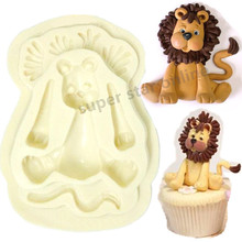 Sugar Buttons LION Silicone Mould Cozinha Fondant Cake Molds Cupcake Soap Mold Chocolate Confeitaria Baking Tools