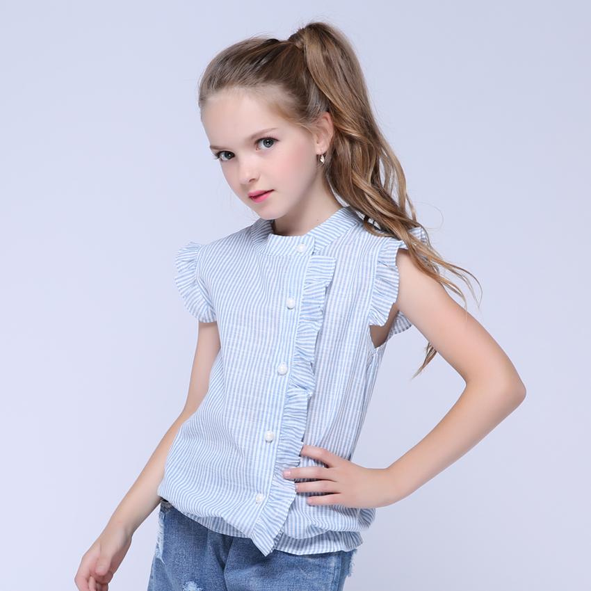 Girl Shirt Brand 17 Cotton Girls White Blouses High Quality Solid Teenage School Uniform Shirt Long Sleeve Spring Kids Clothes 2