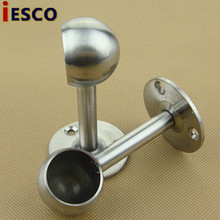 Stainless steel pipe flange seat closet hanging rod socket socket round foot seat 25mm/ high pay(China)