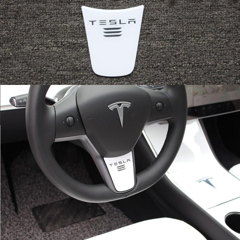 Tesla Model 3 Car Carbon Fiber Steering Wheel Decoration Cover Sticker