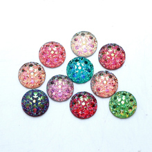 Buy 100Pcs Mixed Resin Bling Round Decoration Crafts Beads Flatback Cabochon Kawaii Embellishments Scrapbooking DIY Accessories for $1.37 in AliExpress store