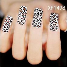 Free Shipping New Fashion Pro Water Transfer Dark Leopard Decal Women Stickers Nail Art Acrylic Manicure Tips Diy Sell Hotting