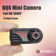 QQ6 Micro Camera Full HD 1080P Spied Camera IR Night Vision Digital Video Voice Recorder Mini DV Camera Small DVR Camcorder Cam