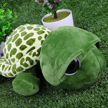 Children 18cm Big Eyes Cartoon Tortoise Puppets Plush Baby Kids Appease Doll Home Decorations Sofa Cushions Toys Birthday New(China)