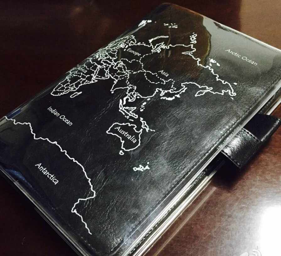 A5 A6 Transparent hobonichi pvc protect cover set notebook bookbinder's protective case world map