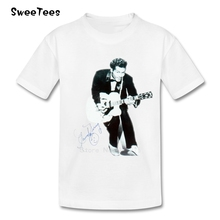 Chuck Berry With Signature T Shirt Baby Cotton Short Sleeve Round Neck Tshirt Children Clothing 2017 Rock T-shirt For Boy Girl