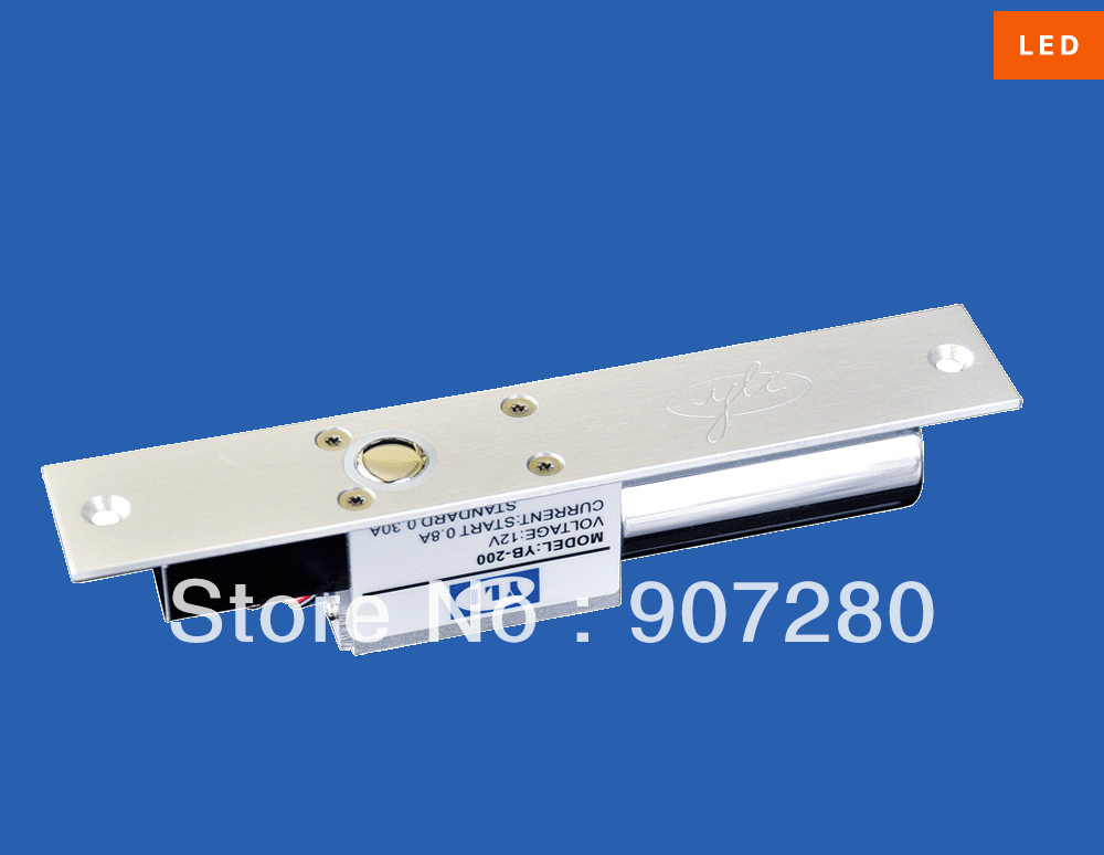 Yli High Quality DC 12V Fail-safe Low Temperature Electric Bolt Lock with LED (YB-200)<br>